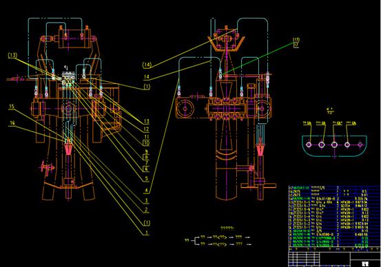 CAD机械配管示意图