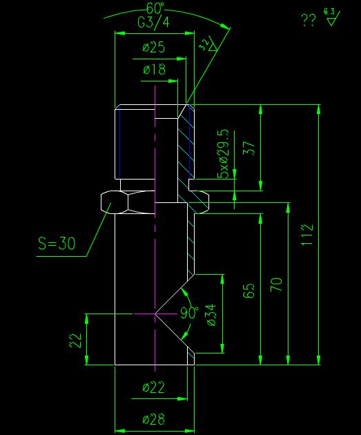 CAD机械平面示意图.