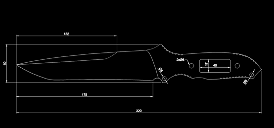 五金件CAD图纸-虫刀最终示意图