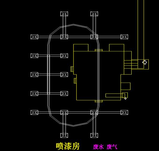 机械设计CAD方案图-制造车间分布示意图