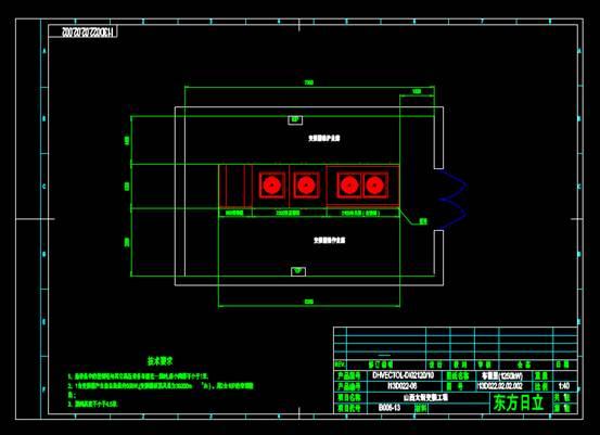 电子电工CAD图纸之太钢变频工程布置图