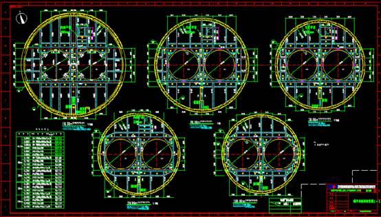 某钢平台的结构设计CAD图纸