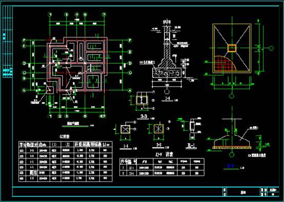 某别墅的结构设计CAD图纸