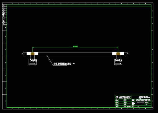 CAD设计方案图纸之车间管道剖面图及铭牌示意图