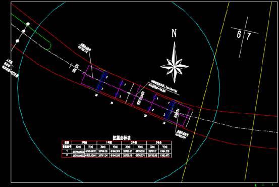 道路设计CAD图纸之桥位平面图