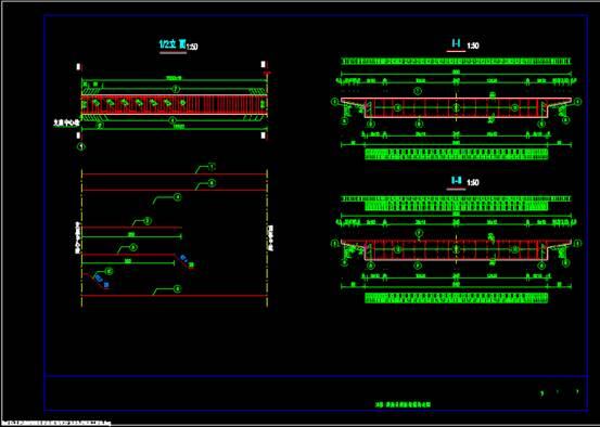 道路设计CAD图纸之钢筋构造图