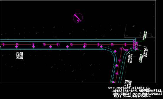道路设计CAD图纸之平面图更改设计