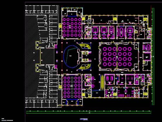 二层总平面宾馆酒店建筑CAD图纸