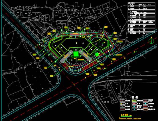 甘家坝宾馆酒店建筑CAD图纸