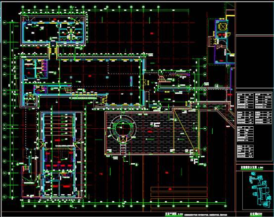 G区首层宾馆酒店建筑CAD图纸
