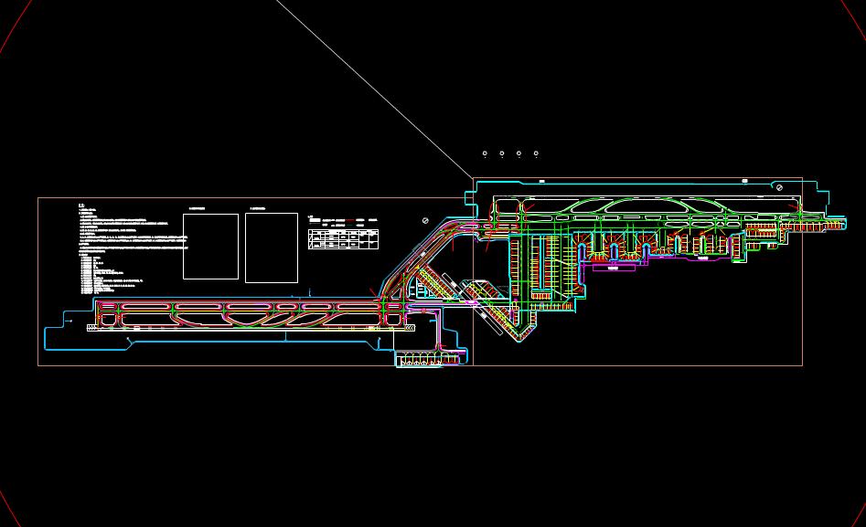 双流机场建筑设计CAD图纸