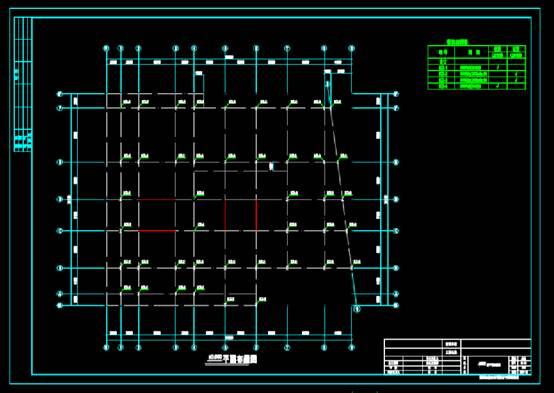 CAD建筑设计中钢结构图纸之衡阳售楼部施工图