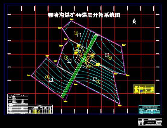CAD设计图纸之焦建航立井开拓平面图