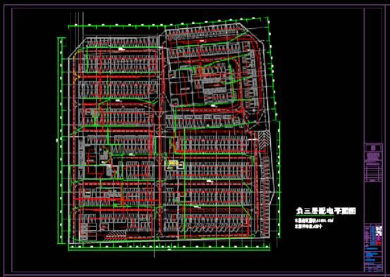 CAD电力控制布置图之中心地下室