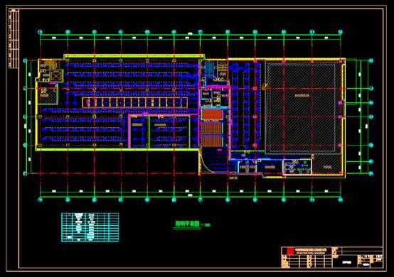 文教建筑电气图之检测3号楼仿真实验室电气