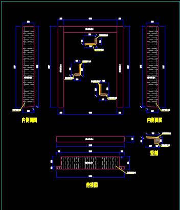 CAD工装施工图纸之立面排版图