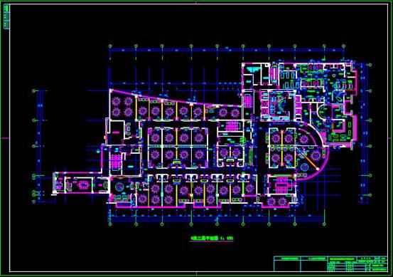 某宾馆酒店建筑CAD图纸之室内设计