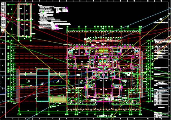 某高层建筑的CAD结构设计图