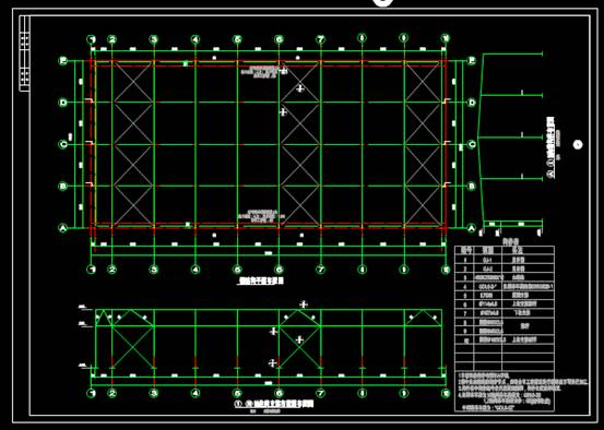 CAD建筑设计中钢结构图纸