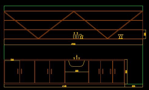 CAD商业空间设计图之咖啡厅
