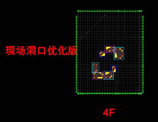 现场结构洞口尺寸CAD结构设计图