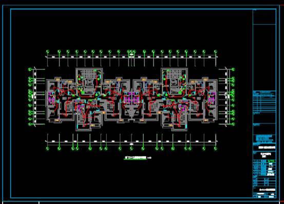 平面CAD住宅建筑电气图纸