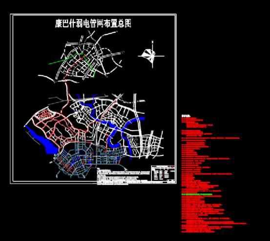 弱电管道CAD市政电力电气图纸