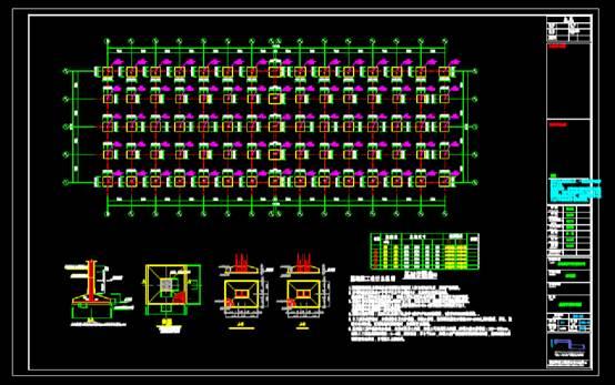 厂房CAD建筑设计中钢结构图纸