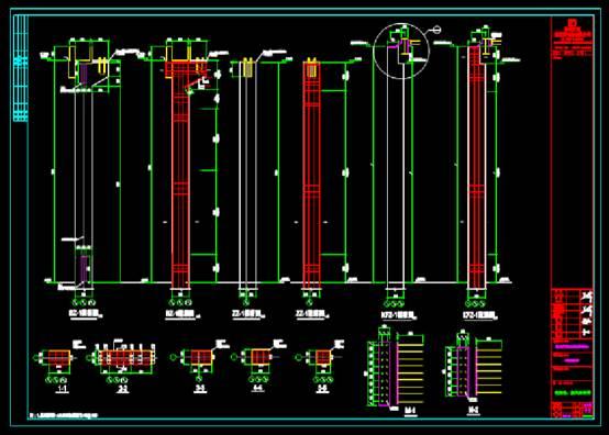 宴会厅结施立诚图框CAD建筑设计中钢结构图纸
