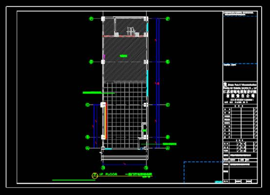 通讯综合楼装修建筑设计CAD施工图