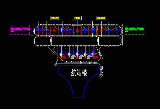 飞机运行方案交通建筑设计CAD图纸