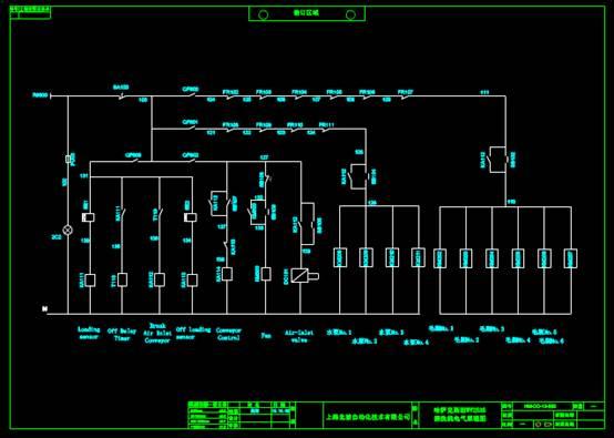 电子电工CAD图纸之清洗机按钮牌