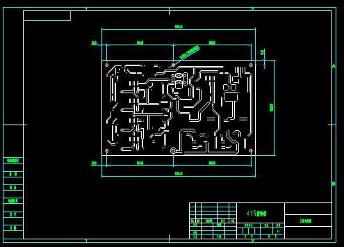 电子电工CAD图纸之印板加工图