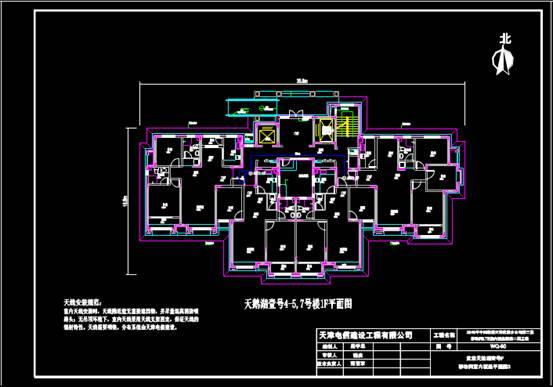 某小区的CAD住宅建筑电气图纸