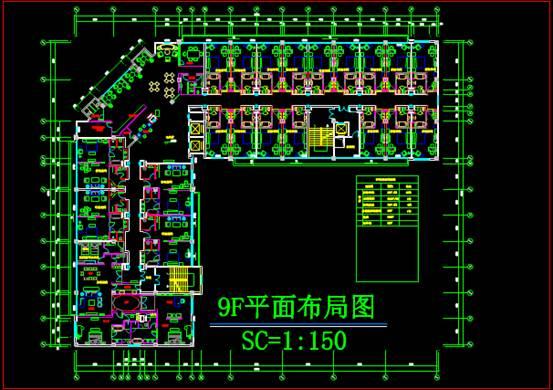 某宾馆酒店建筑CAD图纸设计