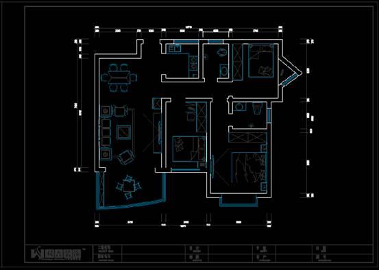 装饰设计CAD图纸之室内装修