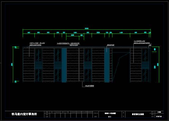 影音室的建筑设计CAD施工图