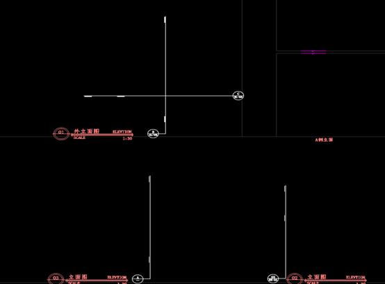 香河甜品店的工装CAD施工立面图