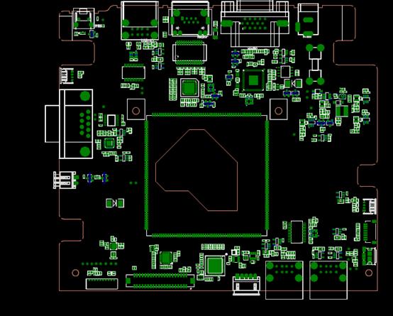 CAD机械零部件平面示意图纸