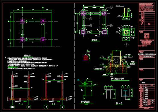CAD建筑设计中钢结构图纸之加装电梯结构