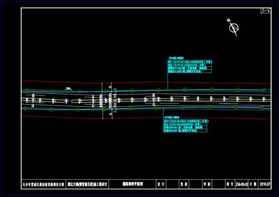 CAD道路布线图之照明平面图