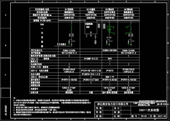 CAD配电图纸之增容配电图