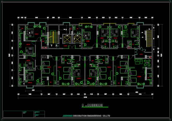 CAD图纸之标准层平面图