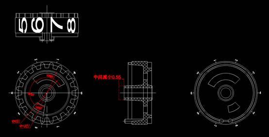 CAD机械制图零件图之字轮图