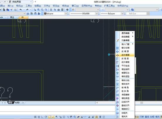 国产CAD建筑选择预览与智能右键菜单