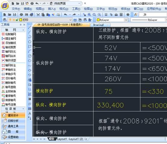 国产CAD建筑中轴线系概念