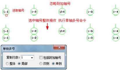 CAD建筑制图时一轴多号实例教程