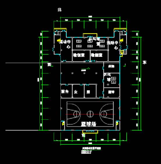 建筑CAD设计图纸之运动场馆
