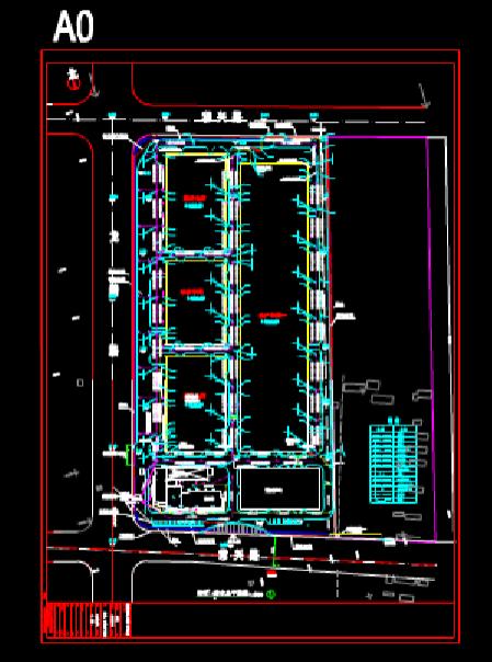 给排水CAD图纸之厂区管网