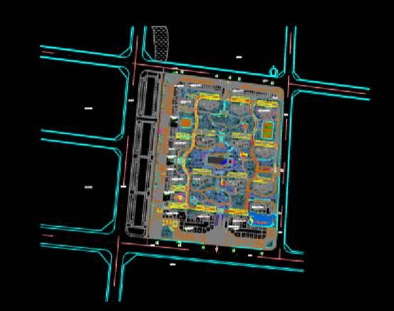 居住区的园林景观CAD图纸